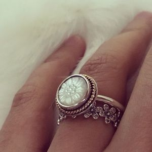 Authentic Pandora Signet Mother of Pearl 56/7.5
